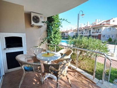 Photo for Rental 1+1 Aparts in Fethiye Calis in a Complex Shared Pool Aqua 2. Fully furnished, close to the center, with a capacity of 3 people 1 + 1 daily rental apartments with a private beach.