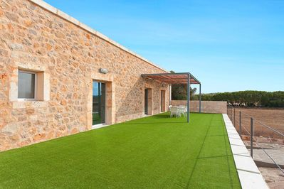 Green grass with outside area