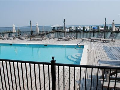 Enjoy a dip in the pool, or just walk down the dock and jump in the bay!