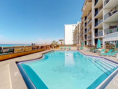 Photo for Beachfront condo w/ balcony, amazing view, shared pool, & beach access!