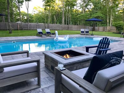 Photo for Stylish Sag Harbor -Salt Wtr Pool+Gas Fire Pit- 4 nights min off-season