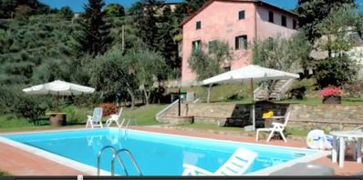 Photo for Restored farmhouse, swimming pool  and great views. 15 min from Lucca.