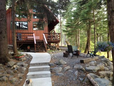 Photo for Conveniently Located -- Peaceful Chalet w/mountain views, firepit, gas BBQ