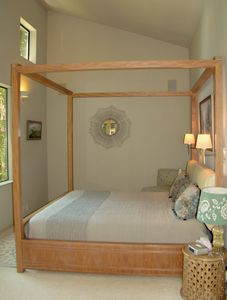 The master bedroom. A no clutter room that is so airy it feels like a tree house