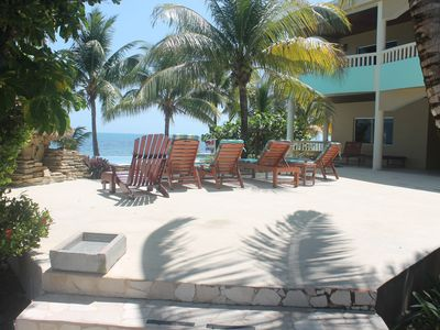 Photo for Luxury Condo Villa on the Beach, Placencia (Villa 1B)