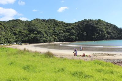 Big Sandy Beach, all tide swimming. Boat launch off the beach.