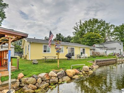 Photo for Lakefront Waterford Township Home w/ Tiki Bar!