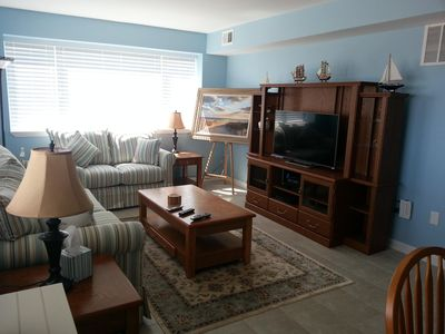 Photo for Right on private oceanfront beach! Near Seaside Heights amusement pier and shops