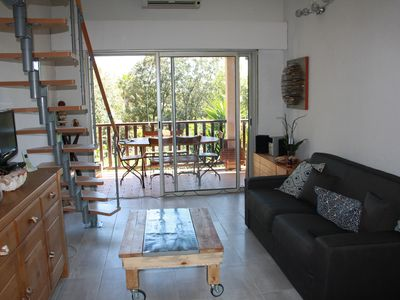 Photo for For rent in the fortnight, nice duplex in La Croix Valmer in the Gulf of St Tropez