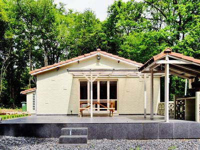 Photo for Modern bungalow with sauna and large enclosed garden, on the border with France