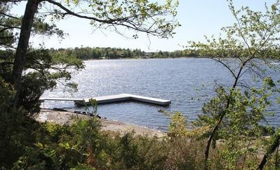 View of our floating dock from your deck!
