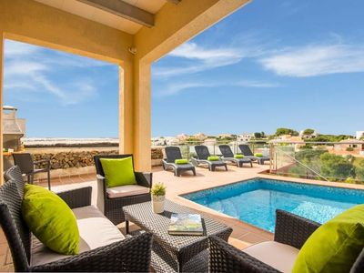 Photo for 3 bedroom Villa, sleeps 6 with Pool, Air Con, FREE WiFi and Walk to Shops