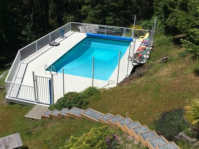 our solar heated pool is open June - September