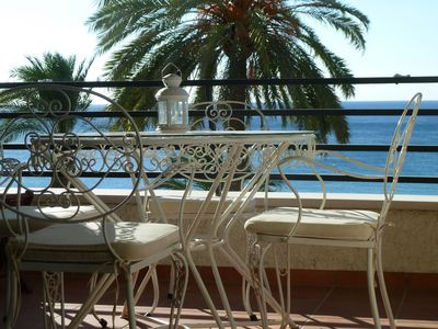 Photo for Apartment 75 m2 renovated air-conditioned stunning sea views. Terrace 40 M2