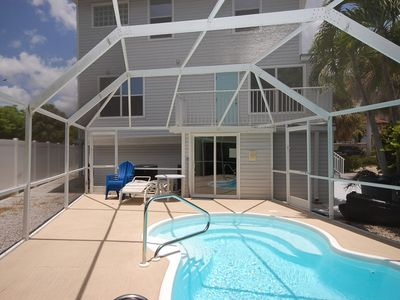 Photo for Luxury Pool Home, 5 Minute Walk to Sugar Sand Beach, Highly Desired Times Square Area!