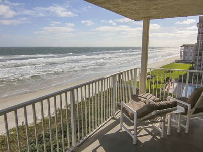 Photo for Shorehom by the Sea Direct Oceanfront Condo w/ Free WiFi, Resort Pool & More!