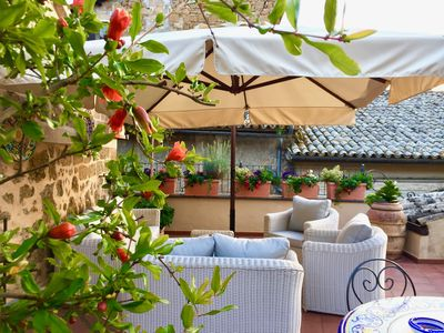 Photo for Orvieto Apt, Flower filled Garden Paradise, Sleeps 5 NEW low rates
