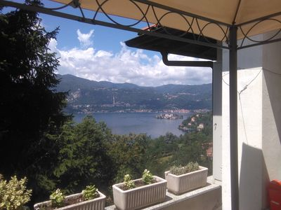 Photo for A terrace on Lake Orta