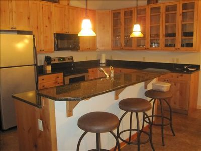 Our beautiful, fully equipped granite kitchen.