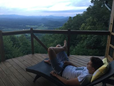 Put way your cell phone. Gaze at the mountains, watch a hummingbird, relax.