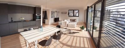 """Photo for Lake Space - Your (T) RoomAm See - Seenahe-Design-Fewo / Loft """"Azur"""""""