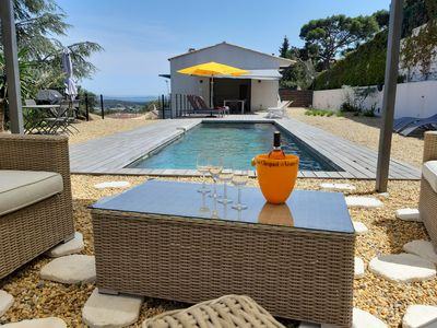 Photo for house wtih swimming pool and large garden. Sea view