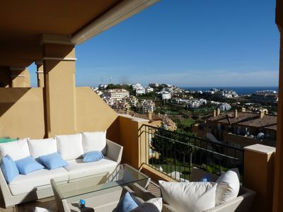 Photo for Luxury apartment - quiet - light - not overlooked - sea view - golf