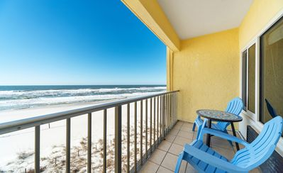 Photo for New! Beachfront condo w/sunset balcony views of the Gulf! Pool, free WiFi!