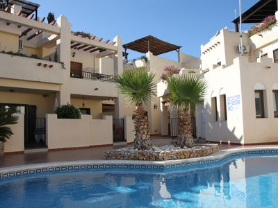 Photo for Luxury Townhouse in Nerja with stunning roof terrace, Burriana Beach