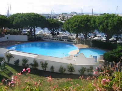 Photo for Studio Furnished terrace tourism 3 *, with swimming pool, WIFI, 400m beach Port-Camargue