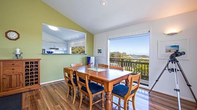 Dining room with views of the bay