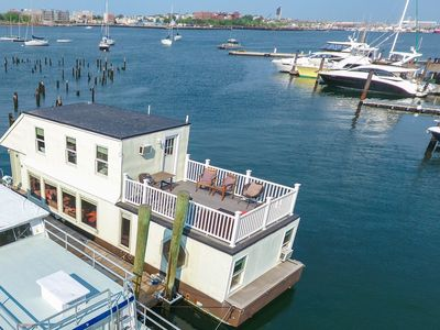 Photo for Houseboat White Elephant: HUGE Floating Home Downtown Boston!