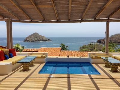 Photo for Stunning Costa Careyes Casita - Expansive Views, Private Pool, Steps To Beach