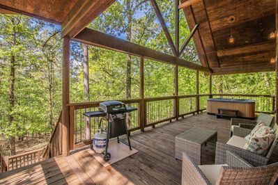 Relax and enjoy the view from the deck