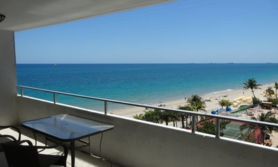 2Bed 2bath Condo Huge Balcony overlooks Ocean & Private Beach Fort Lauderdale