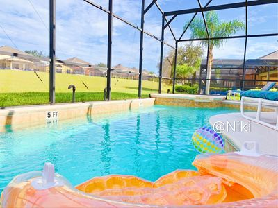 Photo for 7BR/5.5B! Disney Area Family Hoilday Resort with a Private Pool & Game room