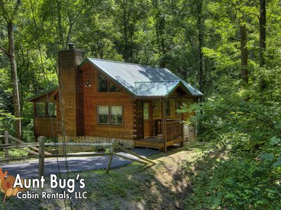 Photo for Private 1 Bedroom Smoky Mountain cabin in a wooded setting!