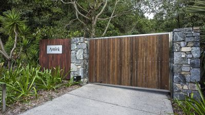 main gate bottom of driveway (automatic opening)