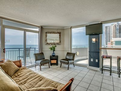 Photo for 2bd 2bt Penthouse, Large Balcony, Oceanfront Long Range Views, Sleeps 8