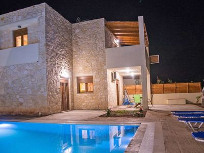 Photo for 3 bedroom Villa, sleeps 6 in Chárakas with Pool, Air Con and WiFi
