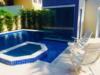 Photo for Beautiful!6 SUITES!air condPOOL!CHURRASQ !!Hydro!Sauna, fitness, WIFI, tv channels!