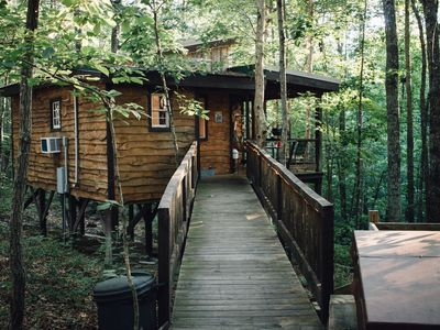 Photo for Hummingbird Hideaway - The Woods are Waiting!! Unique Treehouse Getaway + HotTub