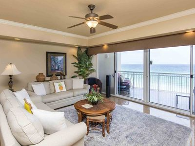 Photo for Beachfront Condo with Free Beach Chair Service! Large Private Balcony. Upgrades Throughout