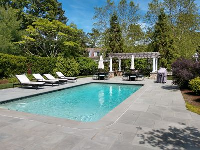 Photo for Home [ new to rental market] in Prestigious Oyster Harbors  Pool & guest cottage