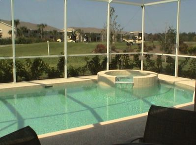 View of Pool, Jacuzzi and Golf Course with Southern Exposure