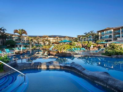 Waipouli Beach Resort! Luxury Mountain & Peek Ocean AC Pool