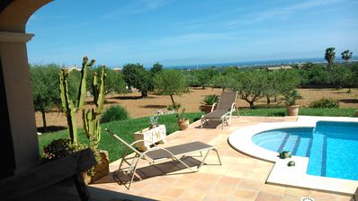 Photo for Finca with free internet, private pool and sea views June special pr