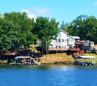Our home on a 40' deep water cove-tube & ski or swim between our docks!