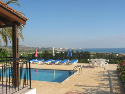 Photo for 3 Bed Bungalow , Coral Bay , Sea views  , Private Pool