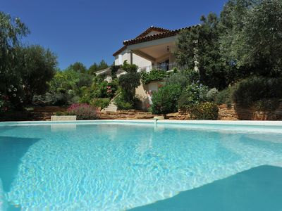Photo for Villa with sea view, landscaped garden, swimming pool, and top quality services.